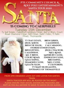 Santa poster - Tuesday, 15th December - Ty Isaf Estate