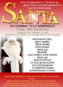 Santa poster - Friday, 18th December - Pwllypant Hill/Hendre